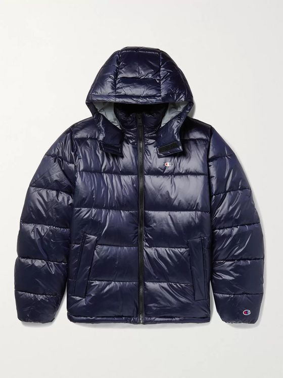 CHAMPION Hooded Quilted Nylon Jacket