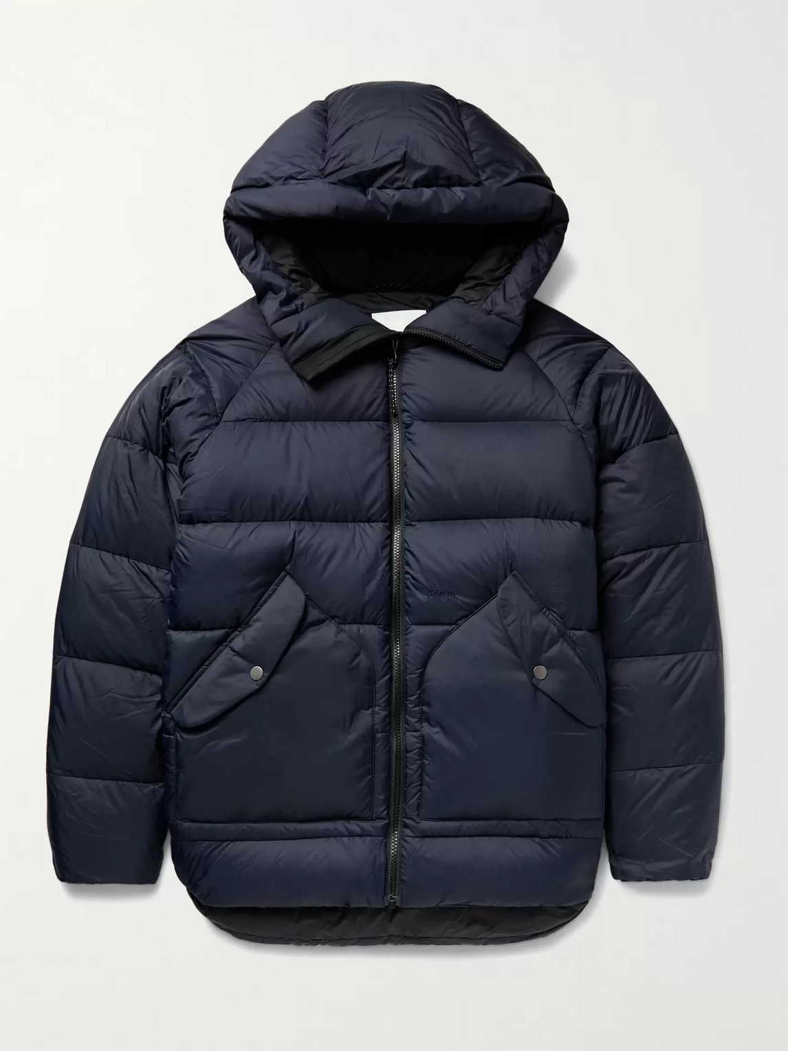 Adsum Alpine Quilted Nylon-ripstop Hooded Down Jacket In Blue