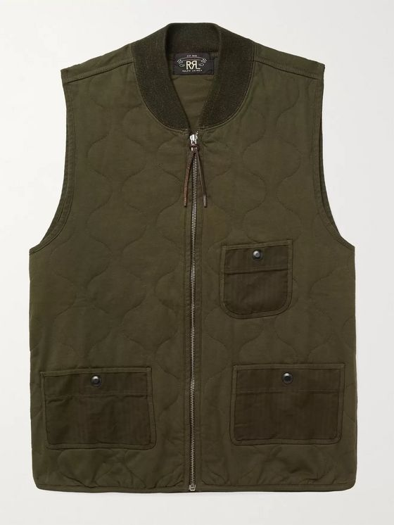 RRL Quilted Cotton-Twill Gilet