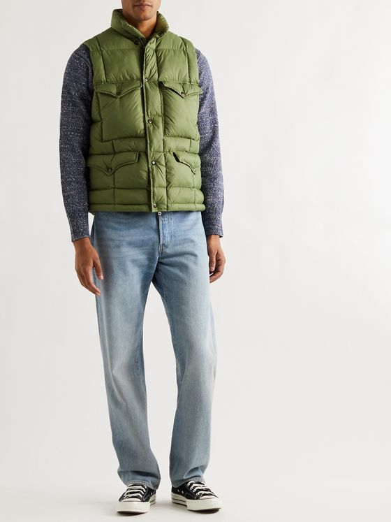 RRL Haines Quilted Shell Gilet