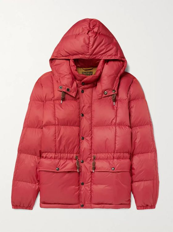 RRL Amber Quilted Padded Nylon Hooded Jacket