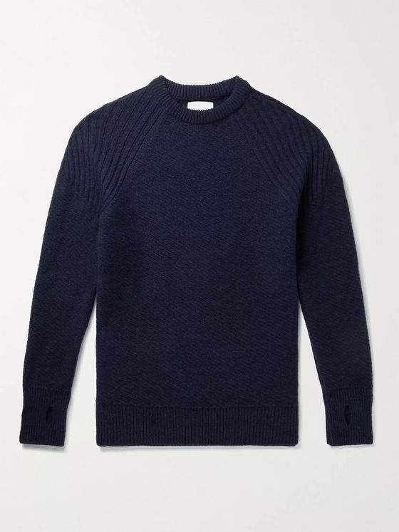 OLIVER SPENCER Blenheim Ribbed Wool Sweater