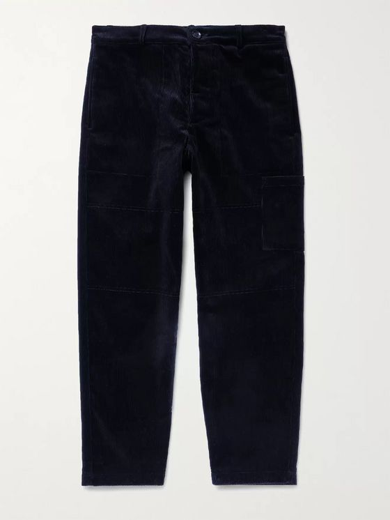 OLIVER SPENCER Judo Wide-Leg Cotton-Corduroy Trousers