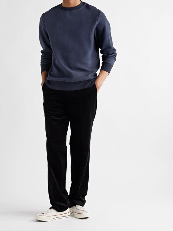 OLIVER SPENCER Robin Waffle-Knit Organic Cotton-Jersey Sweater