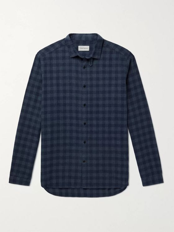 OLIVER SPENCER Clerkenwell Checked Brushed Cotton-Flannel Shirt