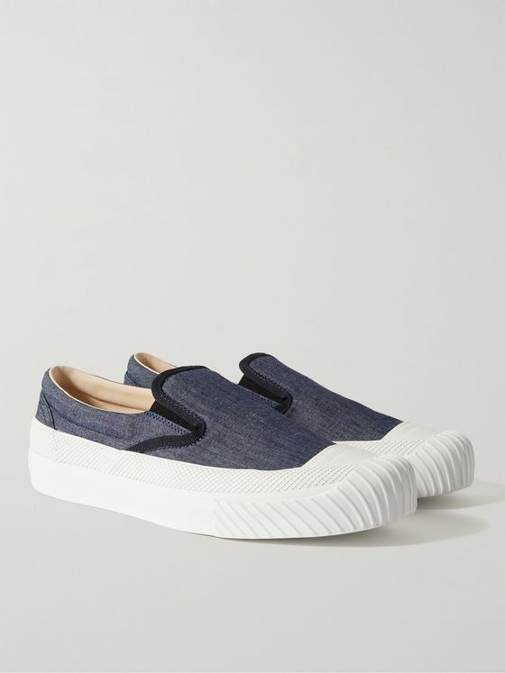 STONE ISLAND Chambray Slip-On Sneakers