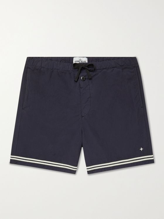 STONE ISLAND Mid-Length Striped Swim Shorts