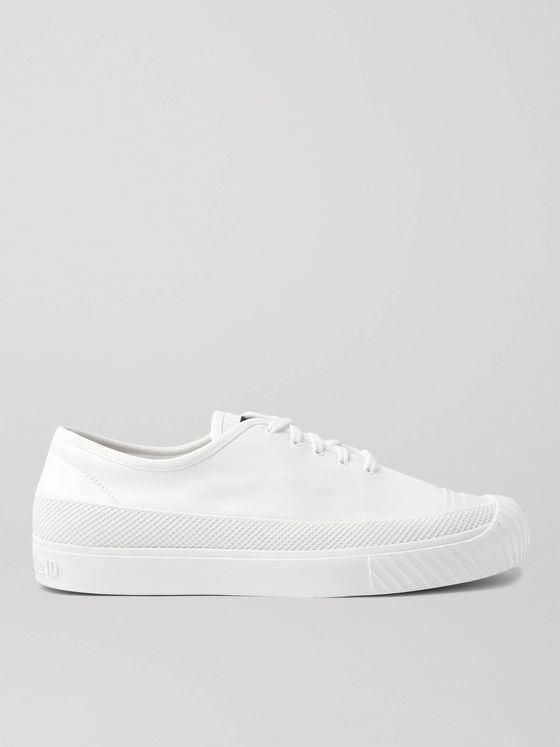 STONE ISLAND Rubber-Trimmed Leather Sneakers