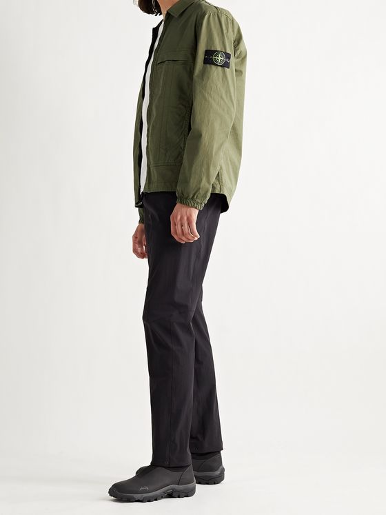 STONE ISLAND Logo-Appliquéd Stretch-Cotton Twill Jacket
