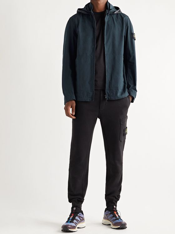 STONE ISLAND Logo-Appliquéd Cotton-Blend CORDURA Hooded Jacket