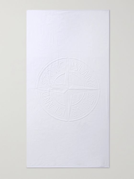 STONE ISLAND Logo-Detailed Cotton-Terry Towel