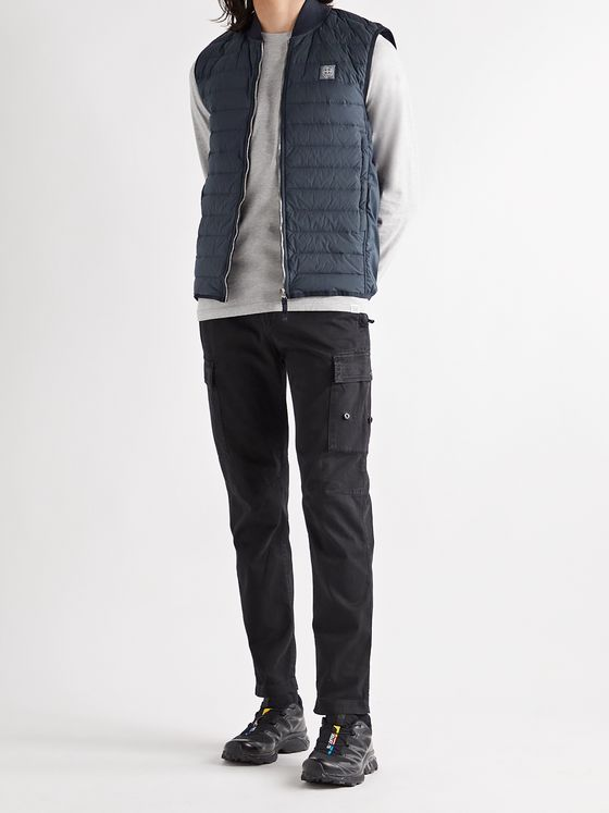 STONE ISLAND Quilted Stretch-Nylon Down Gilet