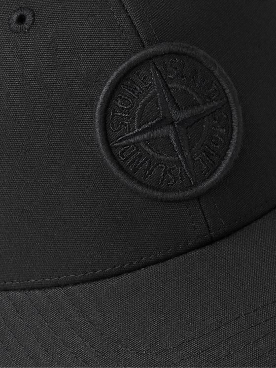 STONE ISLAND Logo-Embroidered Cotton-Canvas Baseball Cap
