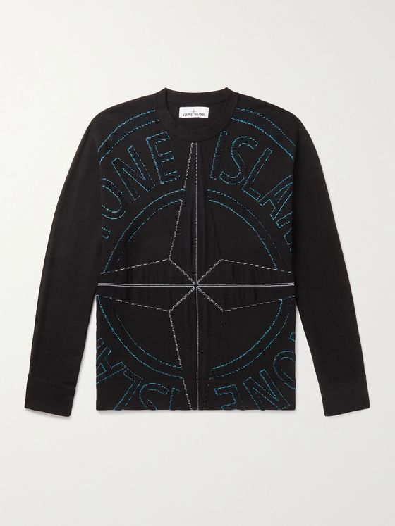 STONE ISLAND Intarsia Cotton Sweater