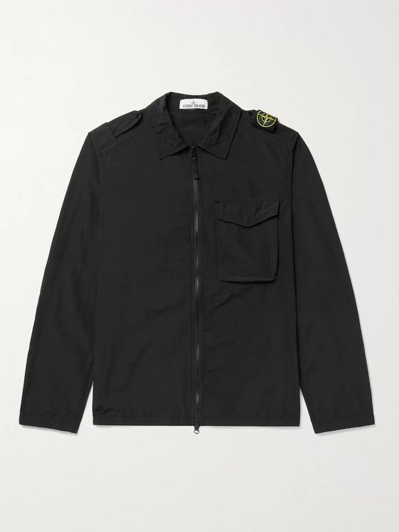 STONE ISLAND Naslan Light Garment-Dyed Nylon Shirt Jacket
