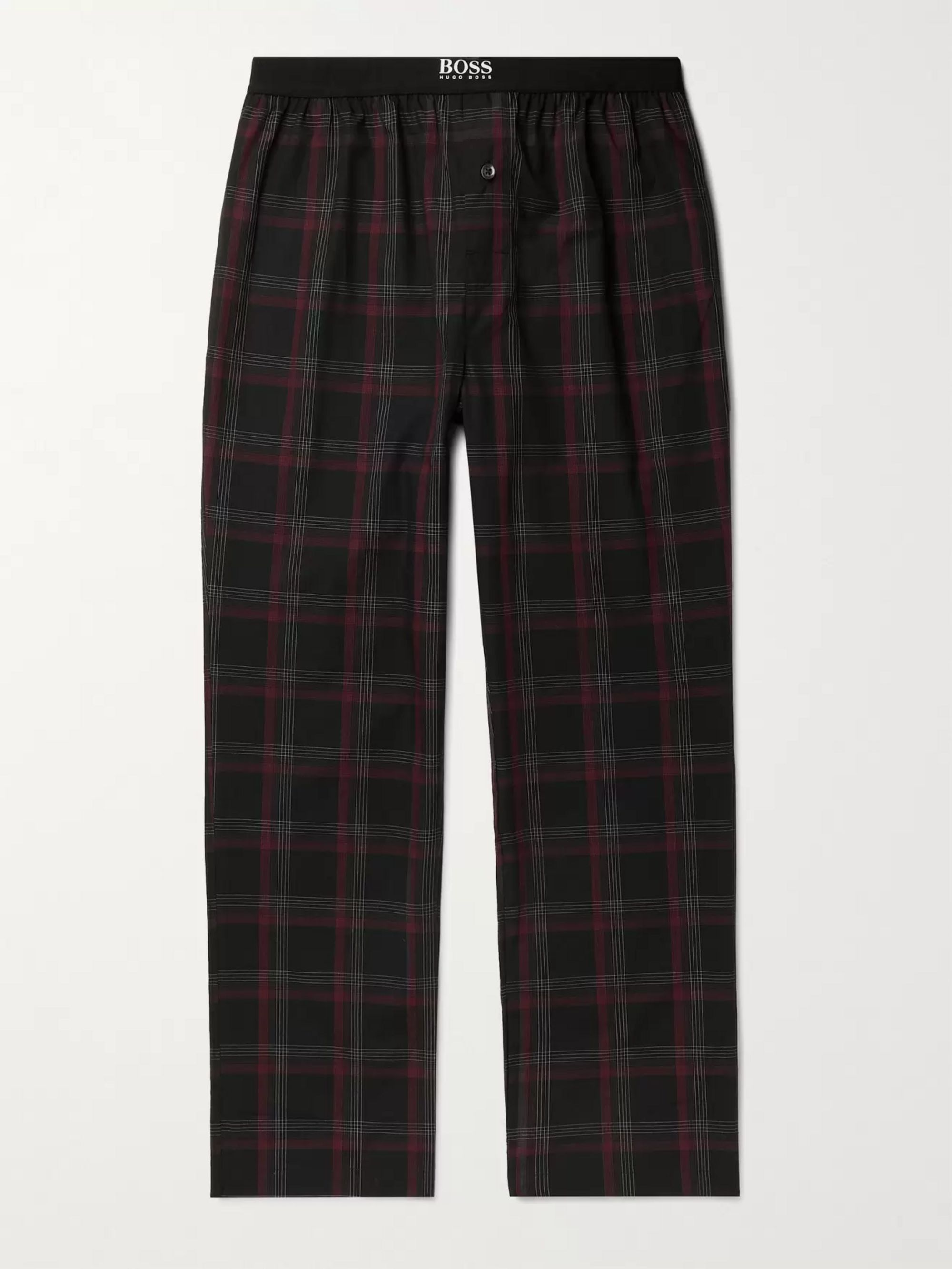 HUGO BOSS Urban Checked Cotton-Poplin Pyjama Trousers