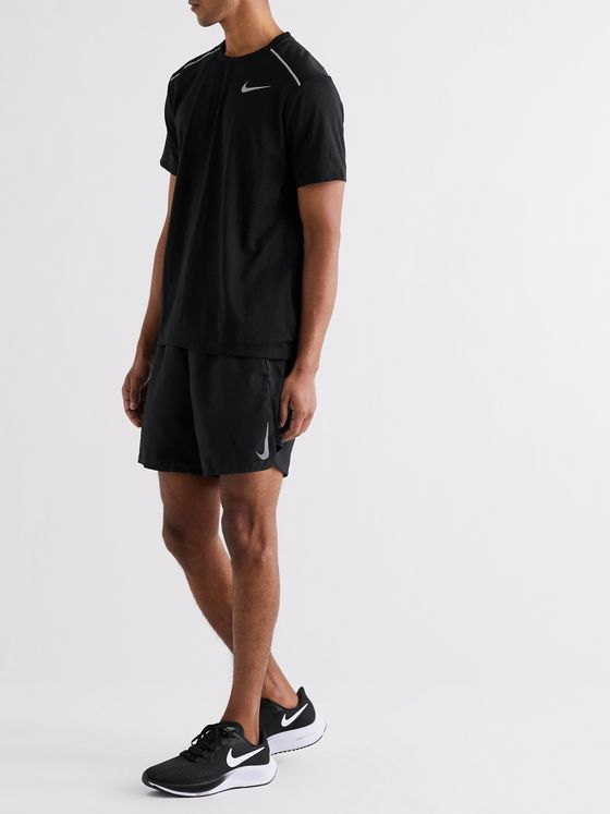 NIKE RUNNING Challenger Mesh-Panelled Stretch-Shell Shorts