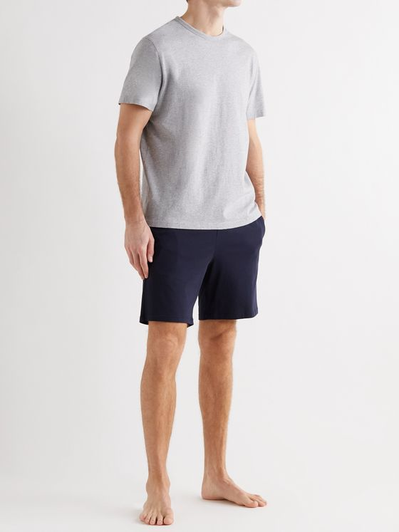 HUGO BOSS Logo-Embroidered Stretch-Cotton Jersey Pyjama Shorts