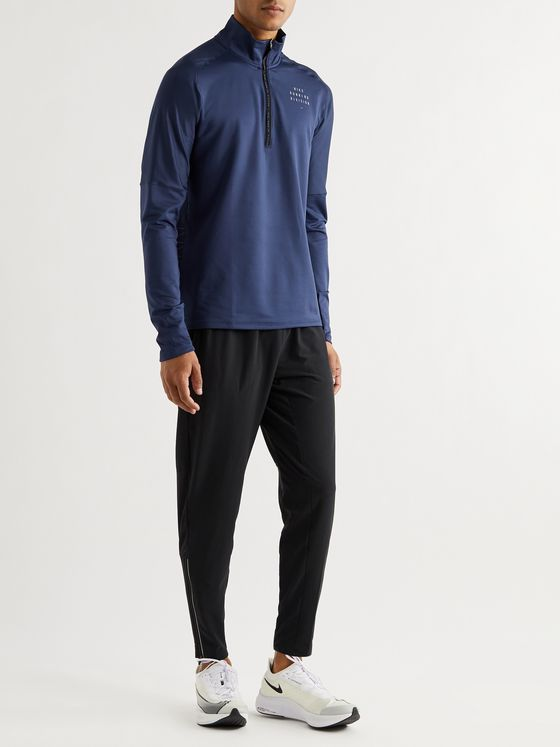Nike Running Run Division Mesh-Panelled Stretch-Jersey Half-Zip Top