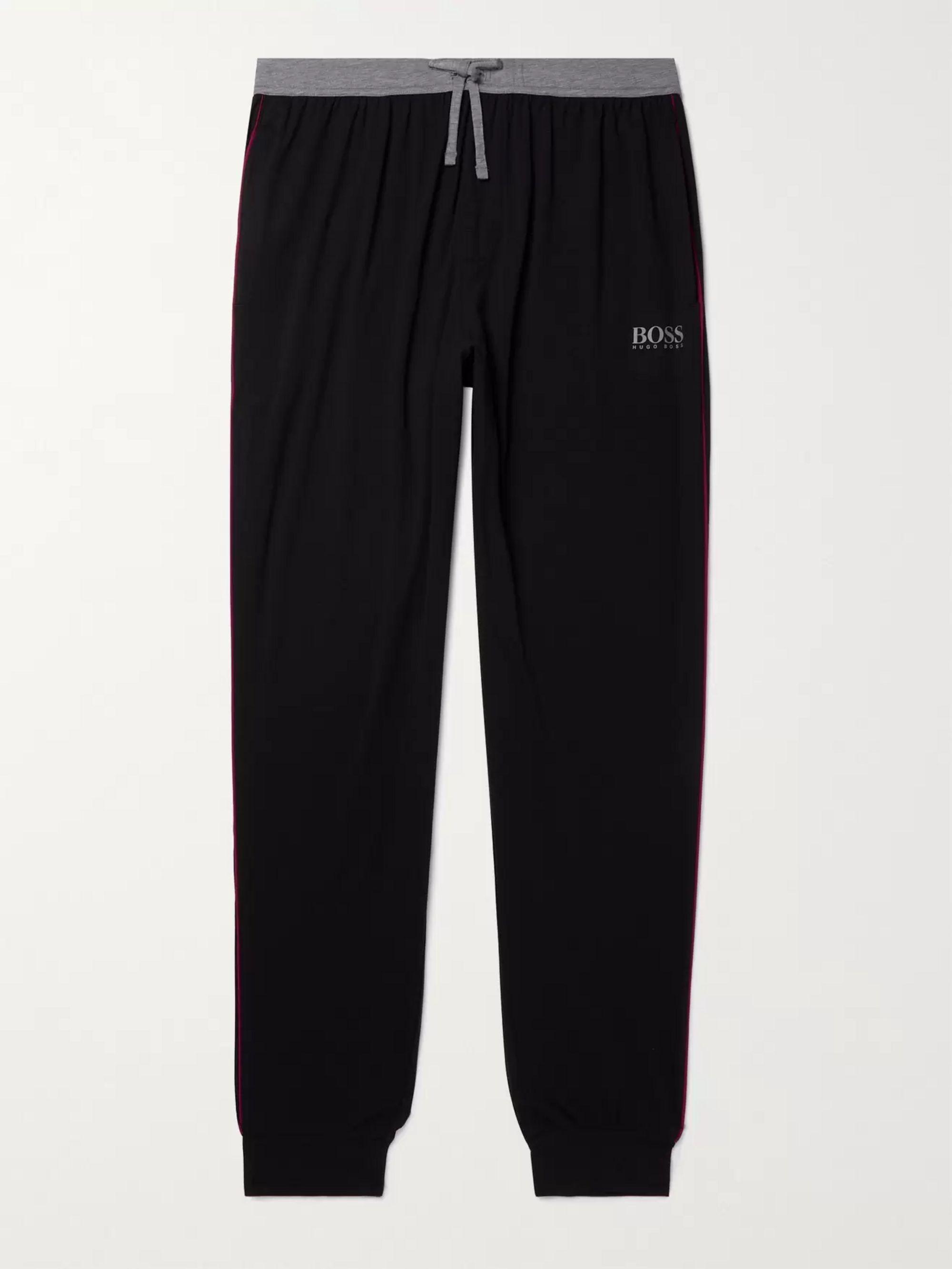 HUGO BOSS Balance Tapered Stretch Cotton and Modal-Blend Jersey Pyjama Trousers