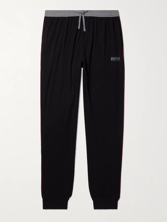 HUGO BOSS Balance Tapered Stretch Cotton and Modal-Blend Jersey Pyjama Trousers