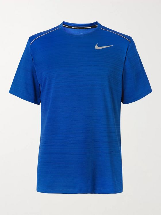 Nike Running Miler Logo-Print Dri-FIT and Mesh T-Shirt