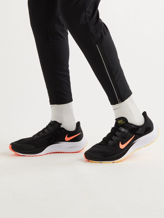 NIKE RUNNING Air Zoom Pegasus 37 FlyEase Mesh and Rubber Running Sneakers
