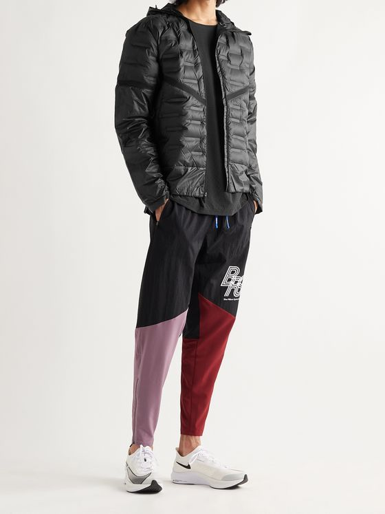 NIKE RUNNING AeroLoft Mesh-Panelled Quilted Shell Hooded Jacket