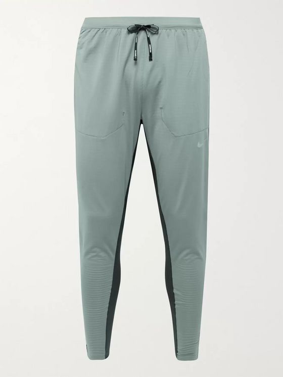 NIKE RUNNING Phenom Elite Slim-Fit Tapered Mesh-Panelled Stretch-Jersey Sweatpants