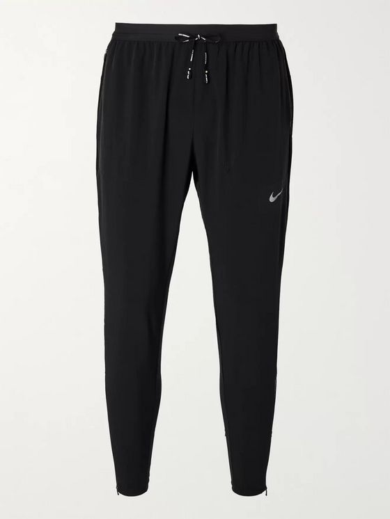 NIKE RUNNING Phenom Elite Slim-Fit Tapered Logo-Print Stretch-Shell Sweatpants