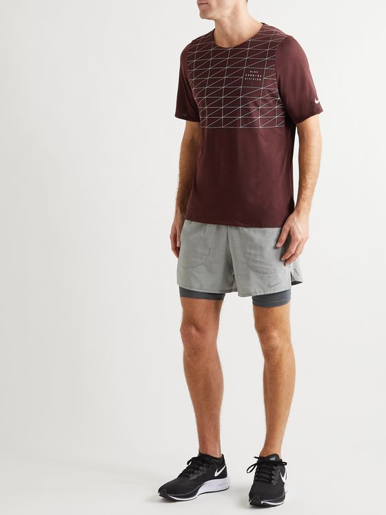 Nike Running Rise 365 Run Mesh-Panelled Dri-FIT T-Shirt