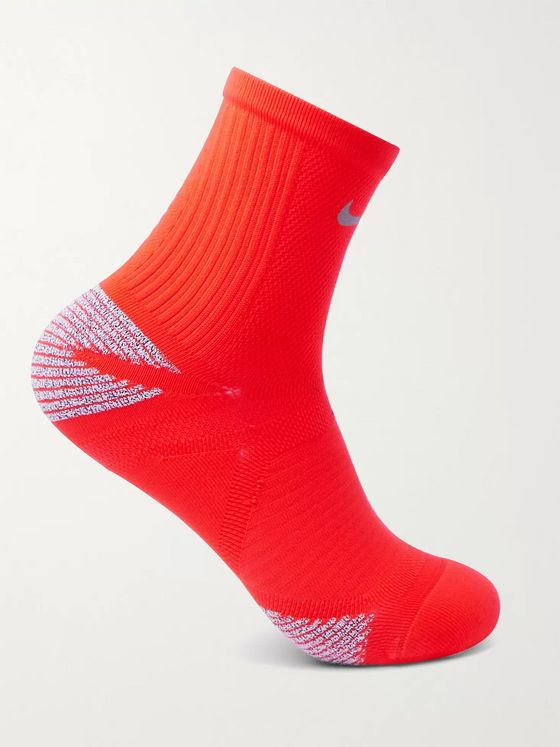 NIKE RUNNING Racing Cushioned Stretch-Knit Socks