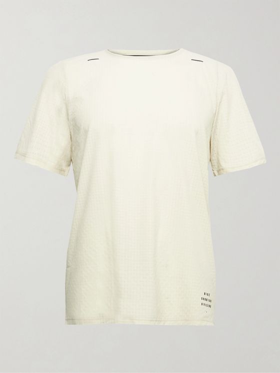 NIKE RUNNING Slim-Fit Division Adapt Perforated Dri-Fit Mesh T-Shirt