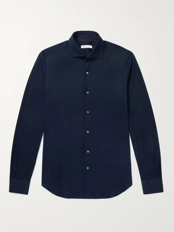 Loro Piana Slim-Fit Cotton-Jersey Shirt