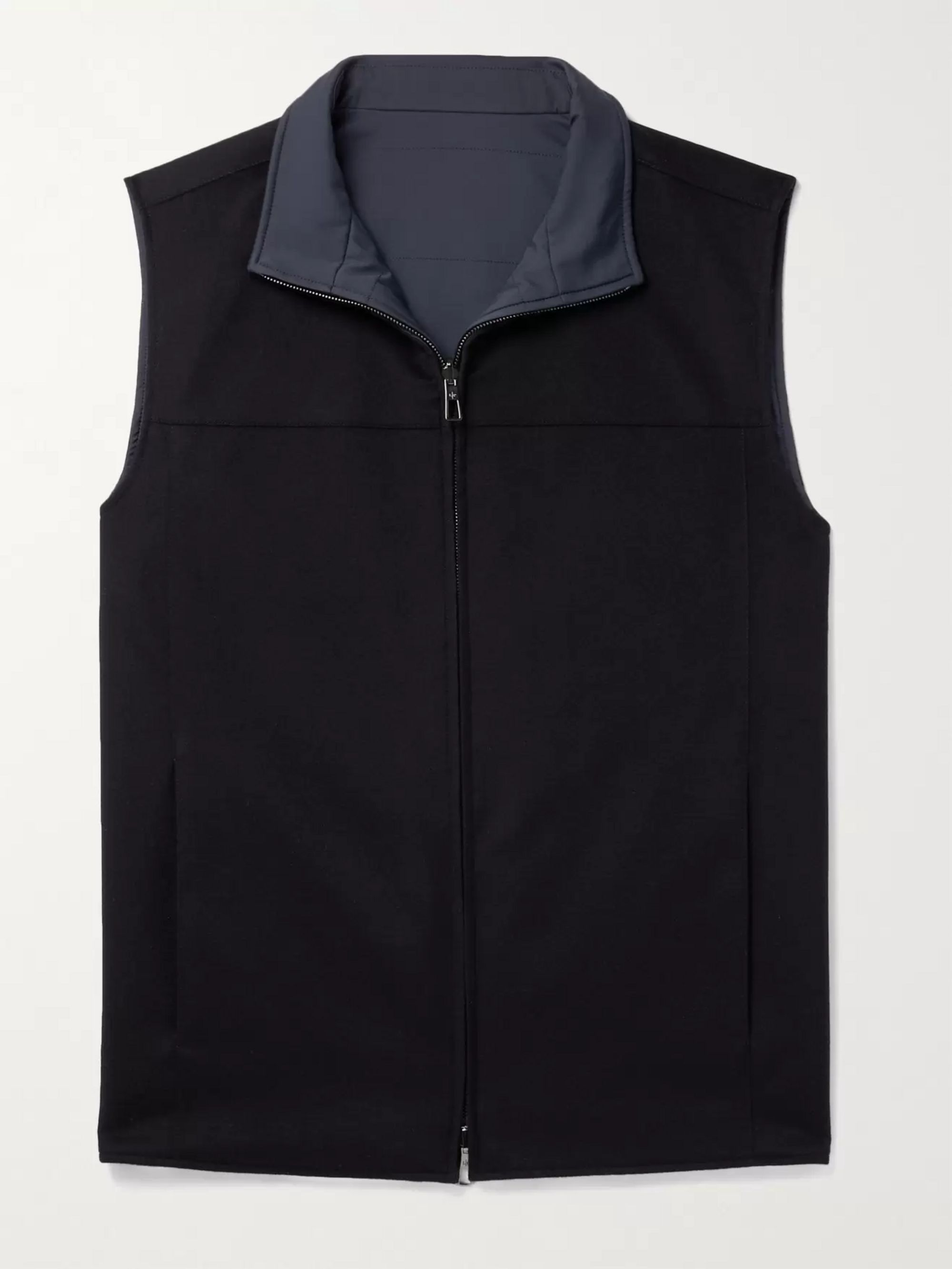 LORO PIANA Slim-Fit Reversible Cashmere and Shell Gilet