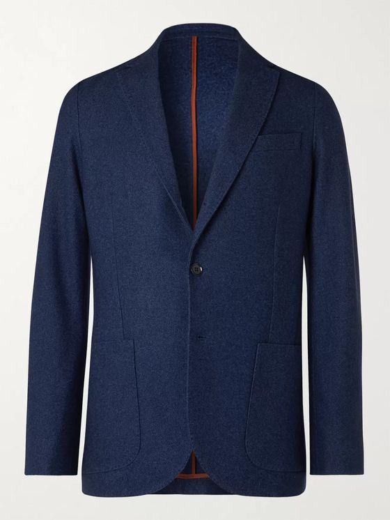 LORO PIANA Unstructured Birdseye Cashmere and Silk-Blend Blazer