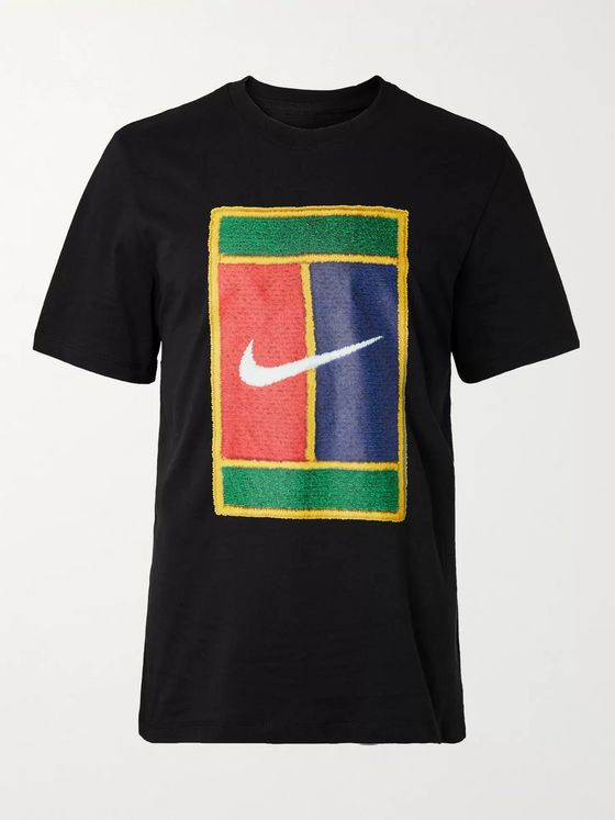 Nike Tennis NikeCourt Logo-Print Cotton-Jersey T-Shirt
