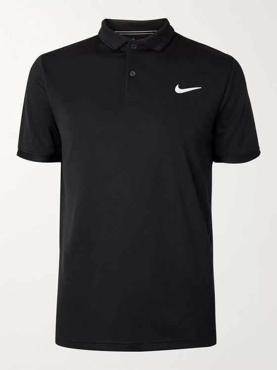 NIKE TENNIS NikeCourt Team Logo-Print Dri-FIT Tennis Polo Shirt