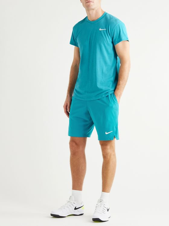 Nike Tennis NikeCourt Challenger Striped Dri-FIT Tennis T-Shirt