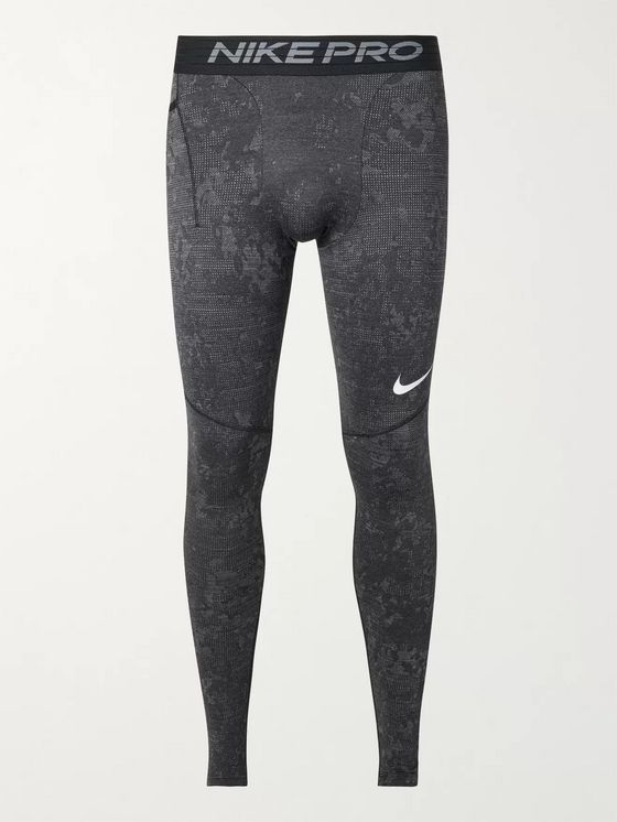 NIKE TRAINING Utility Camouflage-Print Dri-FIT Therma Tights