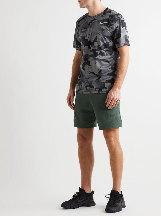 NIKE TRAINING Pro Flex Rep 2.0 Logo-Print Dri-FIT Shorts