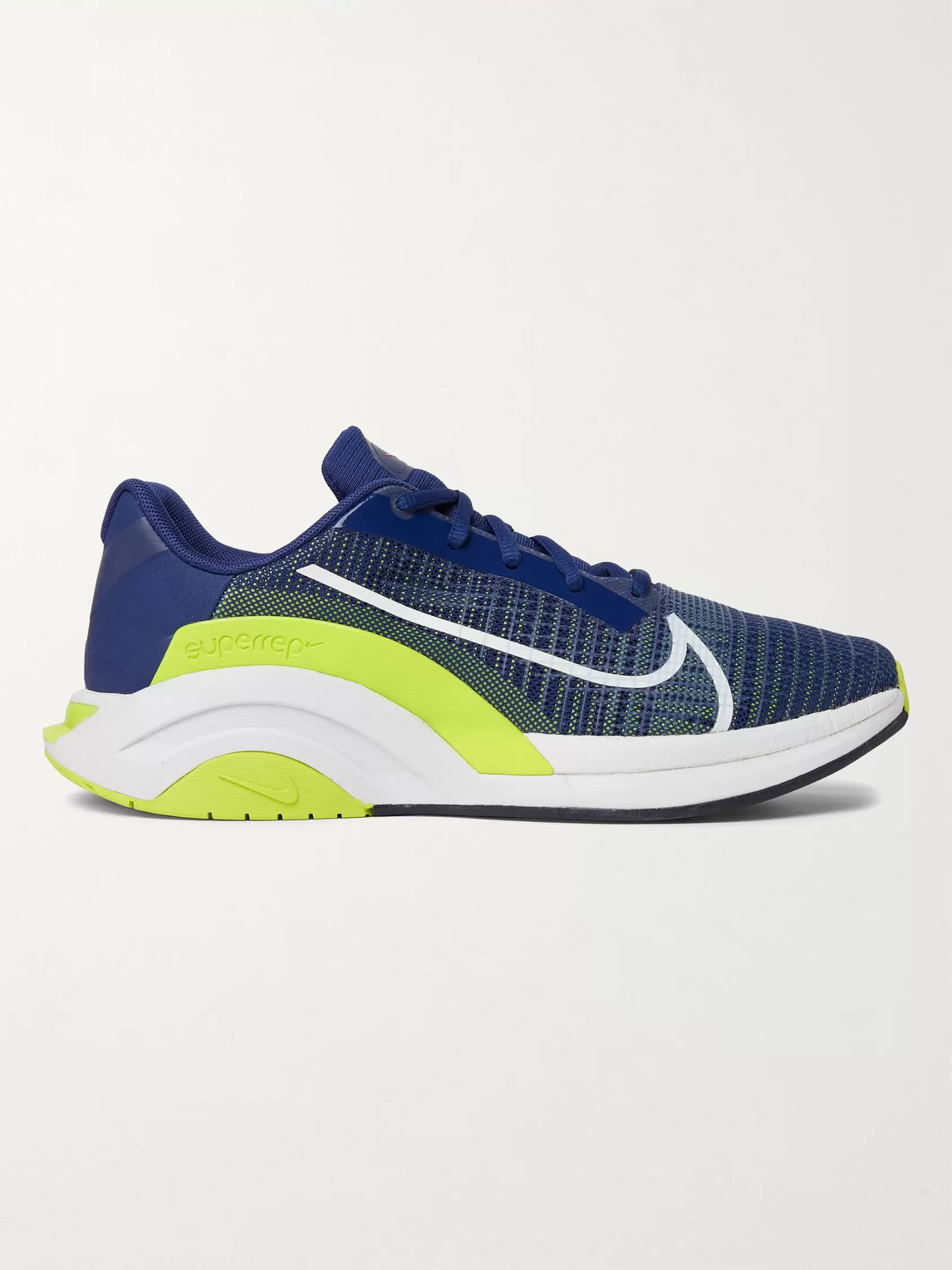 NIKE ZOOMX SUPERREP SURGE RUBBER-TRIMMED NYLON-MESH SNEAKERS