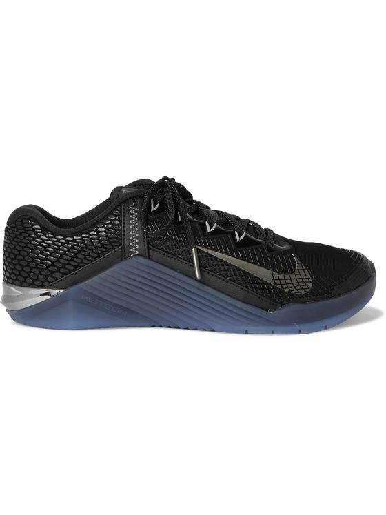 Nike Training Metcon 6 AMP Rubber-Trimmed Mesh Sneakers