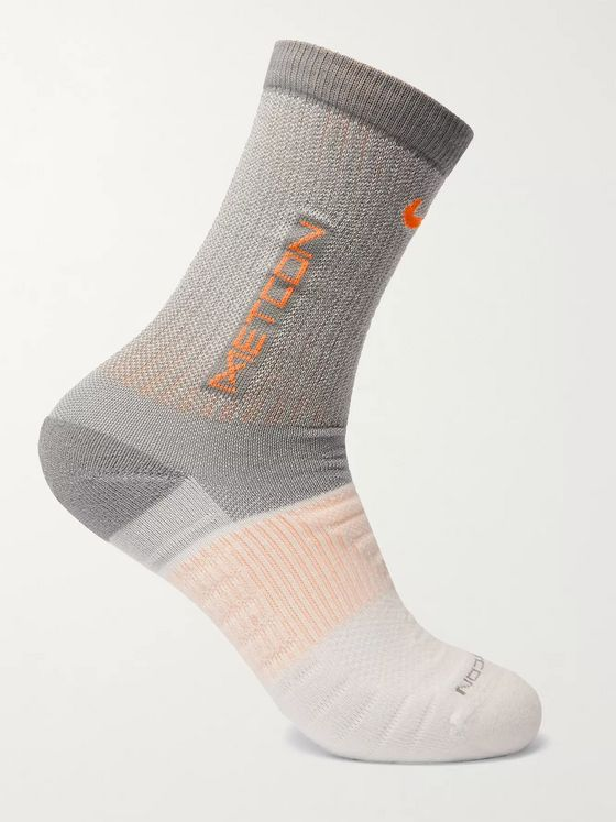NIKE TRAINING Metcon Dri-FIT Cotton-Blend Socks