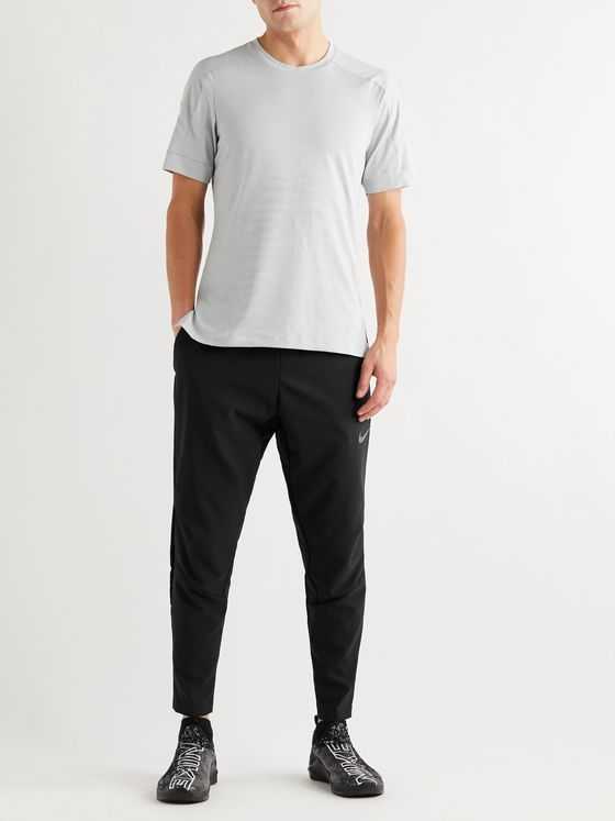 NIKE TRAINING Flex Vent Tapered Logo-Print Jersey Sweatpants