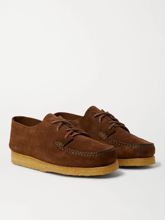 Yuketen Suede Derby Shoes