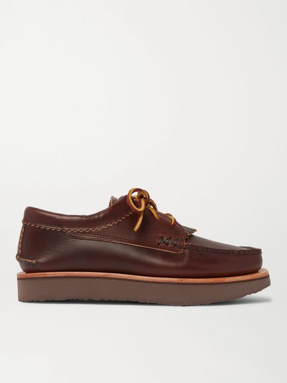 YUKETEN Blucher Rocker Leather Derby Shoes