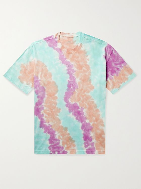 NIKE Sportswear Logo-Embroidered Tie-Dyed Cotton-Jersey T-Shirt