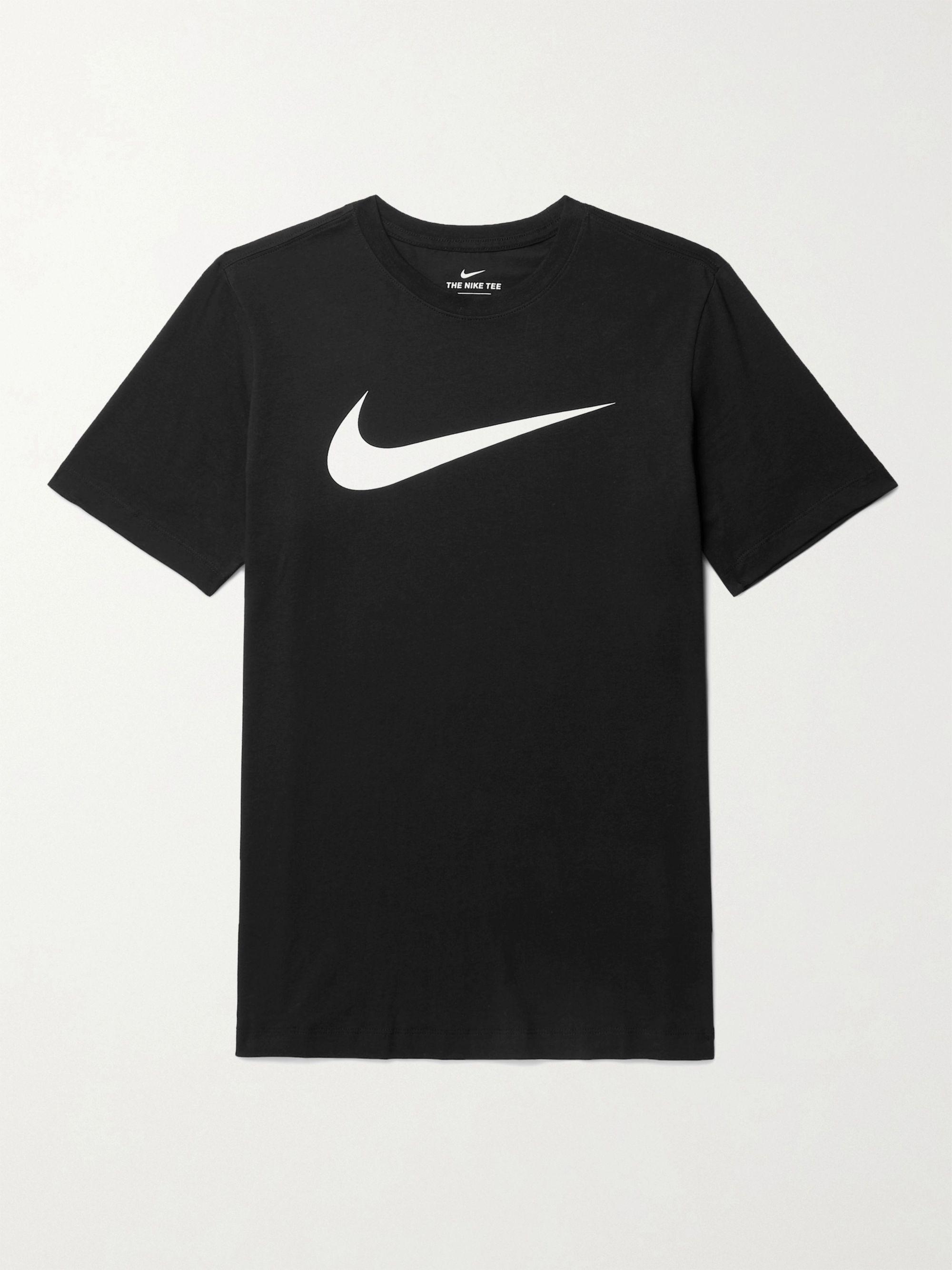 NIKE Logo-Print Cotton-Blend Jersey T-Shirt