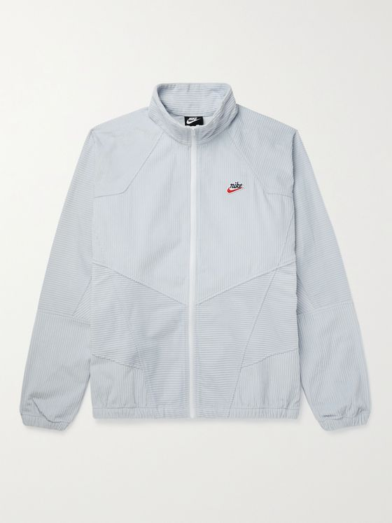 NIKE Heritage Windrunner Panelled Cotton-Corduroy Jacket